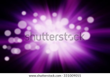 light bokeh on dark purple background - stock photo