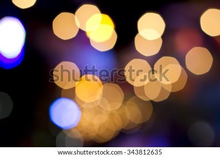 Light bombs of light and the sun is beautiful bokeh  - stock photo