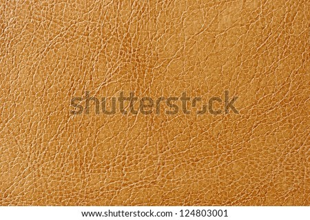 Light Brown Artificial Leather Texture - stock photo