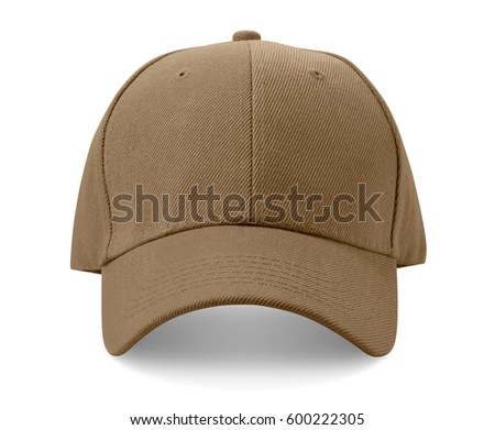 Light brown cap isolated on white background.