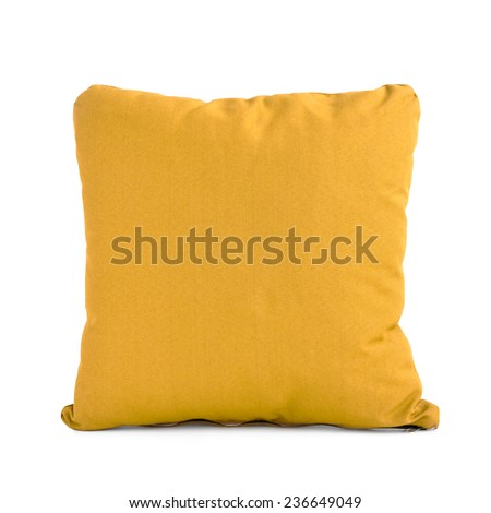 Light brown cushion isolated on white background - stock photo