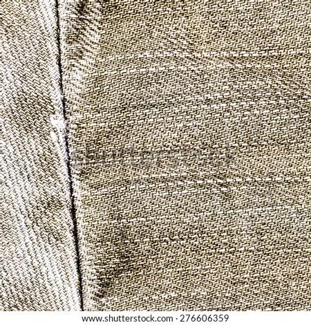 light brown jeans texture,seam - stock photo