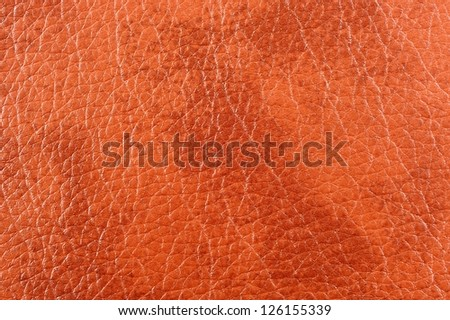 Light Brown Patterned Artificial Leather Texture - stock photo