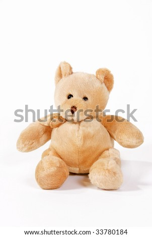 Light brown teddy bear - stock photo