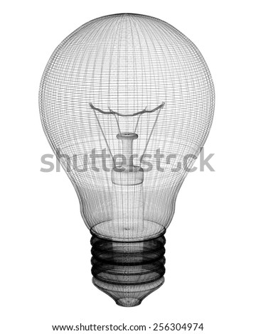 Light Bulb Body Structure Wire Model