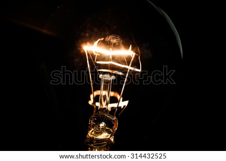 Light bulb close up - stock photo
