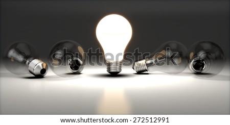 Light Bulb. 3D. Idea - stock photo