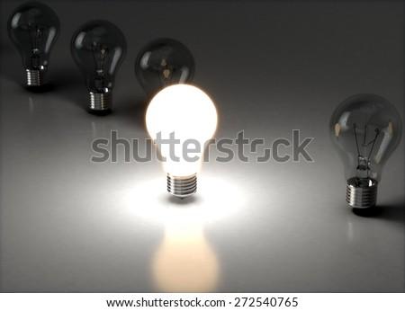 Light Bulb. 3D. New Creativity Concept 1 - stock photo