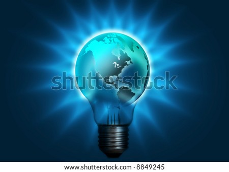 light bulb globe - stock photo