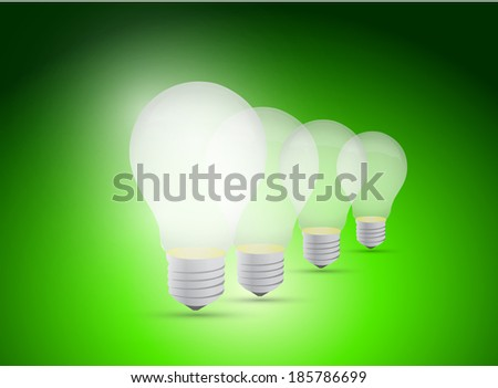 light bulb great idea illustration design over a green background