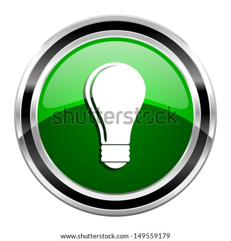 light bulb icon  - stock photo