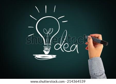 Light Bulb Idea - stock photo