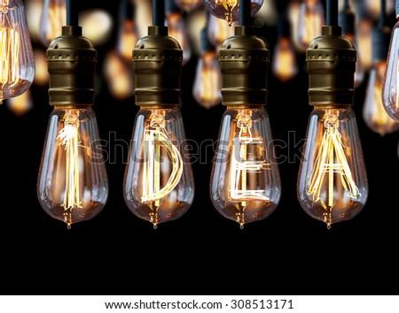 light bulb,idea - stock photo