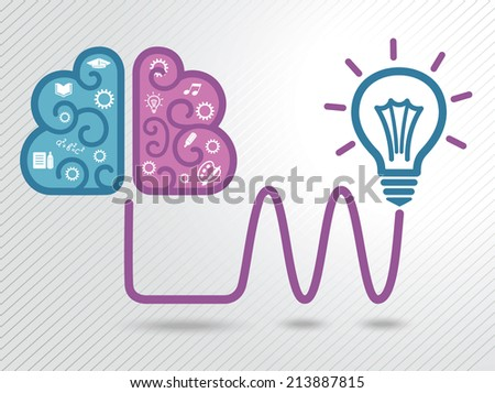 Light bulb idea concept. Thinking.  - stock photo