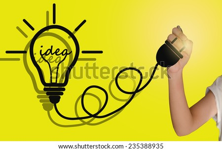 light bulb idea for  Inspiration creative - stock photo