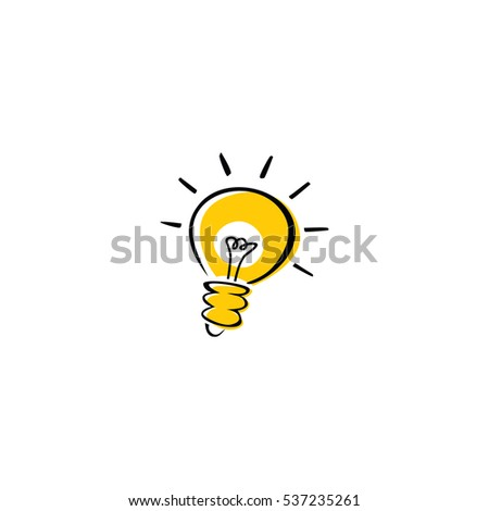 light bulb idea logotype