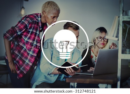 Light Bulb Ideas Inspiration VIsion Innovation Power Concept