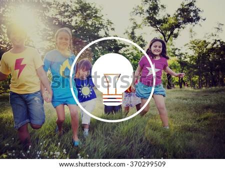 Light Bulb Ideas Inspiration VIsion Innovation Power Concept - stock photo