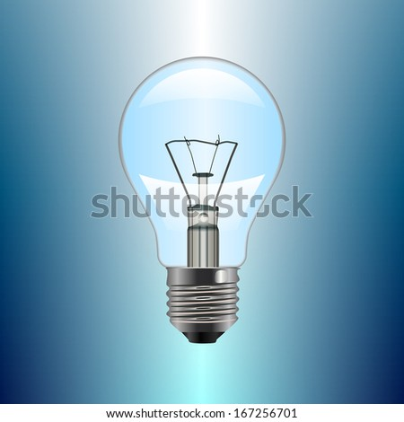 Light bulb. Illustration