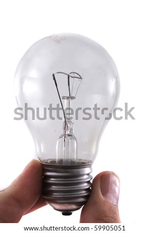 light bulb in the hand - stock photo