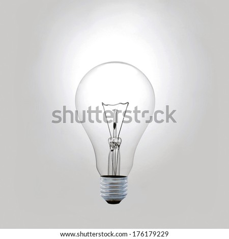 Light bulb, isolated.