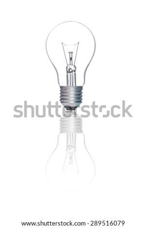 Light bulb, isolated - stock photo