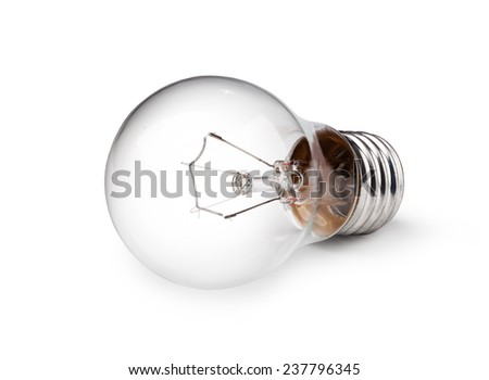 light bulb isolated on a white bakground - stock photo