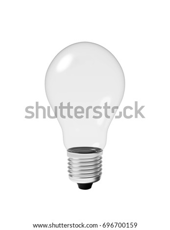 Light bulb isolated Realistic 3d rendering
