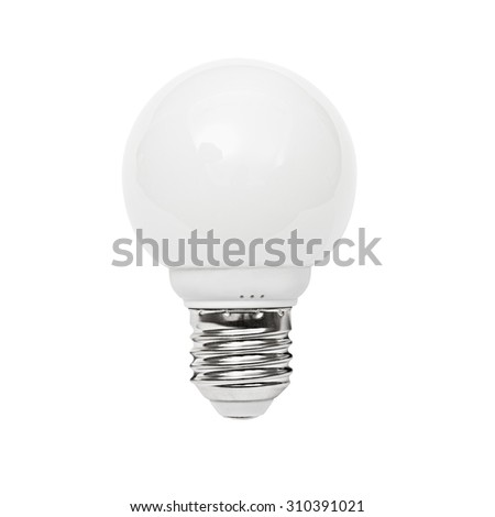 Light bulb, isolated, Realistic photo image, path included  - stock photo