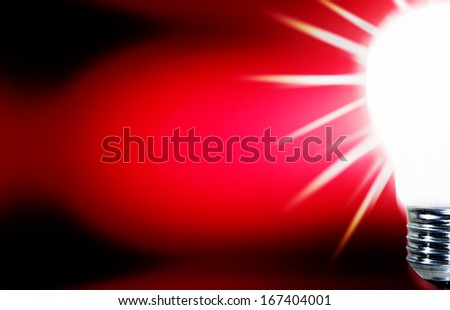 Light bulb isolated with coppy-space - stock photo