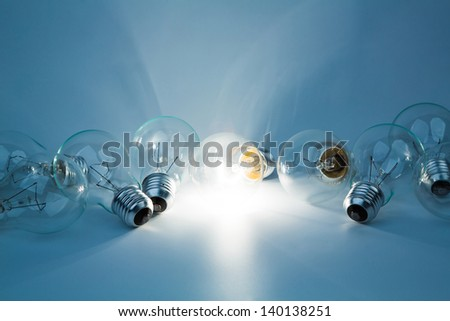 Light bulb lamps - stock photo