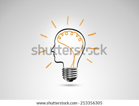 Light bulb metaphor for good idea, Inspiration concept - stock photo