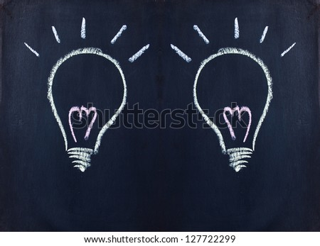 Light bulb, new idea - stock photo