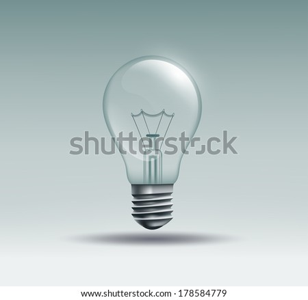 light bulb on a gray background