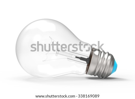 light bulb on its side - stock photo