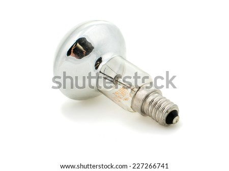 light bulb on white background - stock photo