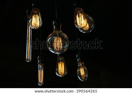 light bulb or old style Lighting decoration
