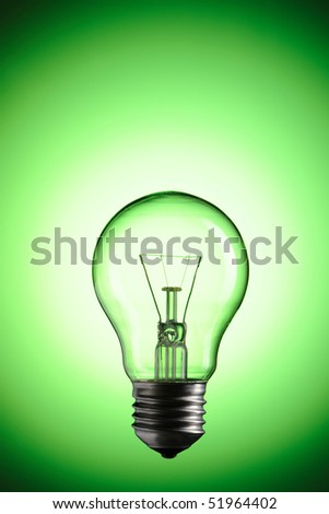Light Bulb over colourful background