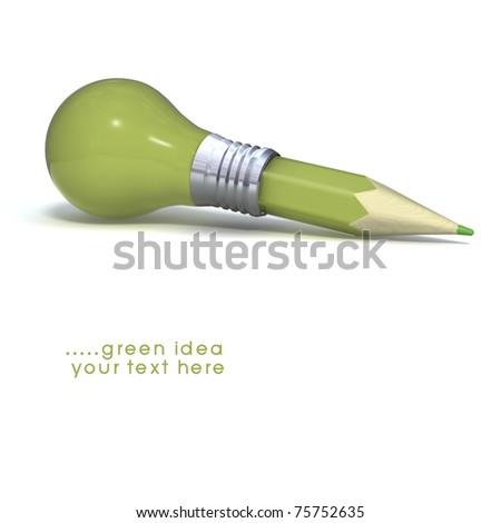Light bulb, Pencil, and Good idea. - stock photo