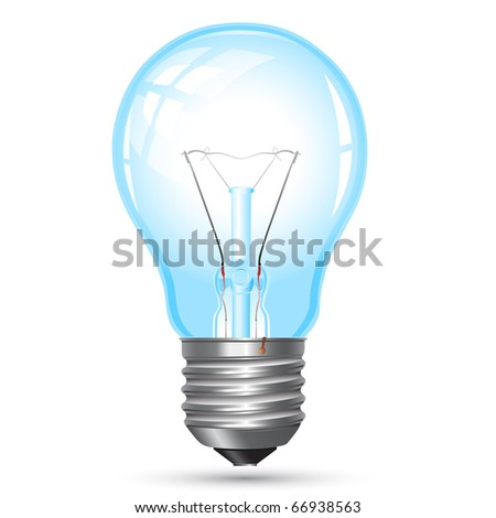 Light bulb. Raster illustration. - stock photo
