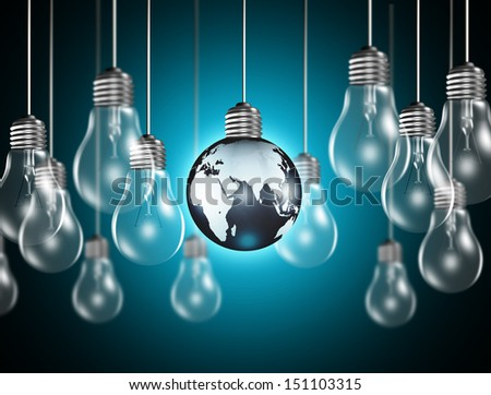 Light bulb with a globe