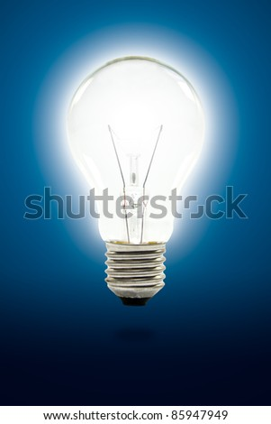 light bulb with clipping path - stock photo