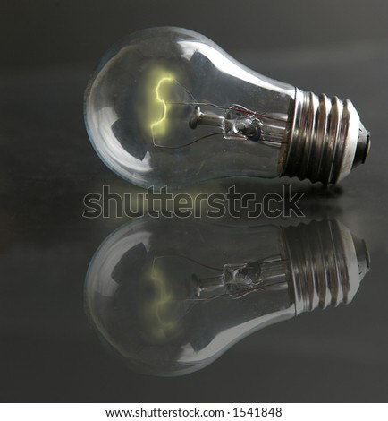 Light-bulb with lit filament