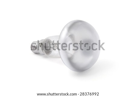 Light bulb with path isolated on the white background