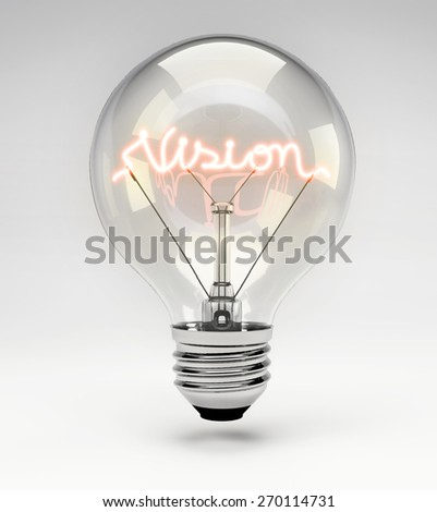 Light Bulb with Realistic Fluorescent Filament - Creative Concept (Set)