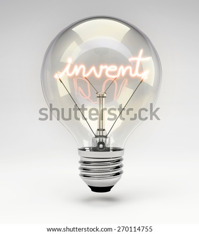 Light Bulb with Realistic Fluorescent Filament - Invent Concept (Set)