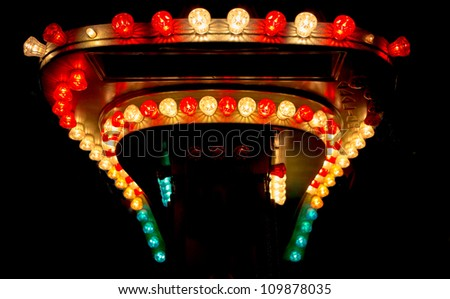 Light bulbs from funfair - stock photo