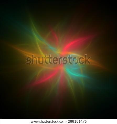 Light burst abstract illustration - stock photo