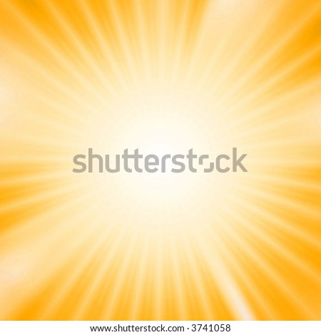 Light burst over yellow background