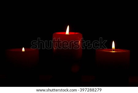 Light candles and a feeling of warmth and comfort. - stock photo